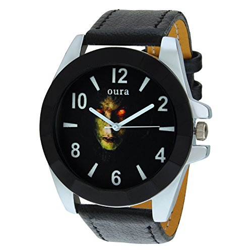 Oura Round Black Dial Designer Casual Wear Watch For Men