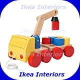 IKEA MULA CRANE WITH BLOCKS WOODEN TOY - SUITABLE FROM 12 MONTHS - BRAND NEW