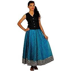 HastaVarna Designer Skirts Sets Chenderi silk