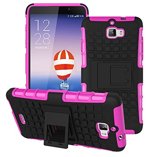 Heartly Flip Kick Stand Spider Hard Dual Rugged Armor Hybrid Bumper Back Case Cover For Micromax Canvas Nitro A310 A311 Dual Sim - Cute Pink