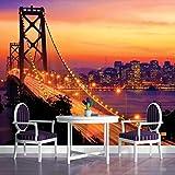 Orange Golden Gate Bridge San Francisco City Wallpaper Mural