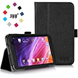 ASUS MeMo Pad 7 ME 176CX Case Cover, FYY Premium Soft Folio Leather Case for ASUS MeMo Pad 7 ME 176CX Black (With Auto Wake/Sleep Feature)