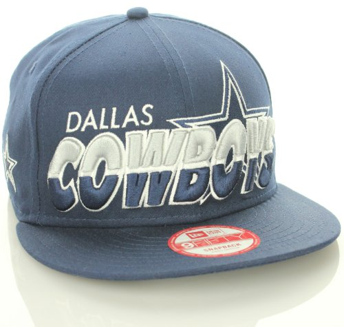 Dallas Cowboys Flat Bill Name Logo Snapback Hat All Navy (MD LG) at Amazon.com