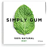 Simply Gum, Mint Natural Chewing Gum, 6 Pack, 90 Pieces