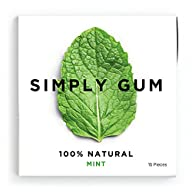 Simply Gum, Mint Natural Chewing Gum,…