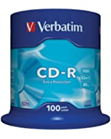 Verbatim CD-R 52x Extra Protection 700 Mo, 100 pièces en cake box