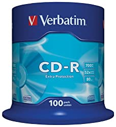 Verbatim 43411 Extra Protection 48/52x 100pk
