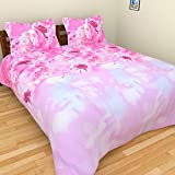 Brida Polycotton Double Bedsheet With 2 Pillow Covers - 225 Cm X 225 Cm, Pink