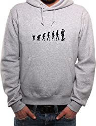 Mister Merchandise Men´s Hoody Sweater Hoodie Evolution Dog Walking Gasse Spazieren gehen