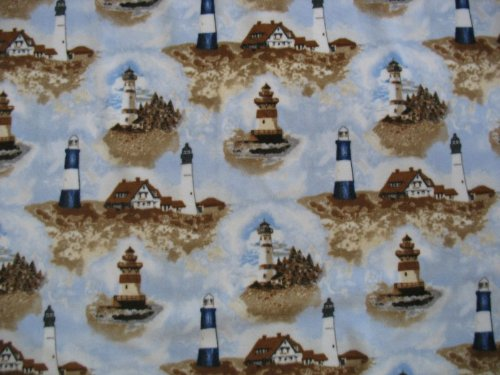 Lighthouse Fleece Throw Blanket front-231951
