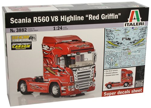 Italeri-510003882-124-Truck-Scania-R560-V8-Highline-Red-Griffin