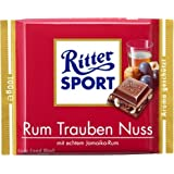 Ritter Sport Rum Raisins Hazelnut Chocolate 100 g