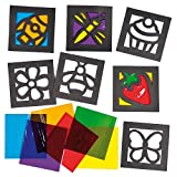 Mini Stained Glass Effect Window Decorations - Pack of 10