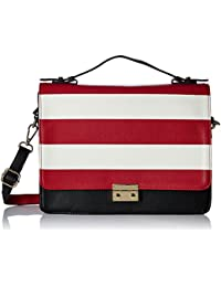 Caprese Women's Satchel (Black And Red)