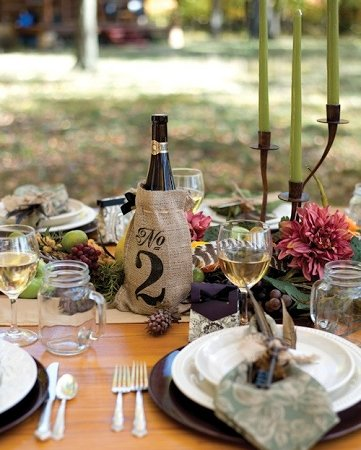 Raebella Events Burlap Table Number Wine Bottle Favor Centerpiece Bags No 1-30 back-1058617