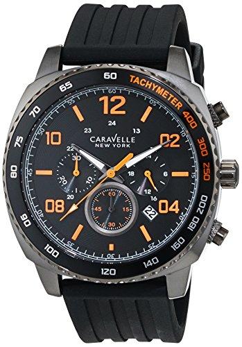 Caravelle New York Men's Quartz Watch with Chronograph Quartz Silicone 45B141