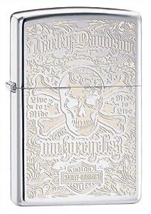 (送礼)Zippo 美国芝宝打火机 Harley-Davidson Skull Pocket Lighter $16.20