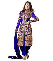 Shree Hans Creation Royal Blue Sherwani Dress Material
