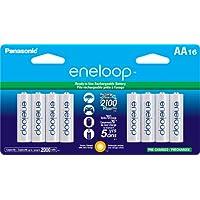 16 Pack Panasonic Eneloop BK-3MCCA16BA Battery
