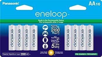 16 Pack Panasonic Eneloop Battery