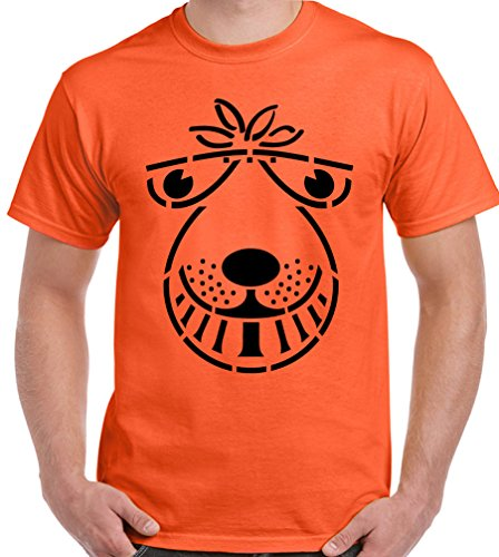 Space Hopper - Mens Funny T-Shirt SPX3 - Orange, X-Large [Apparel]