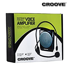 Croove Rechargeable Voice Amplifier, with Waist/Neck Band & Belt Clip, 20 Watts. Very Comfortable Headset from Croove
