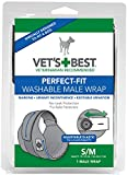 Vets Best 1 Count Perfect Fit Washable Male Dog Wrap, Small/Medium