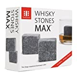 "Teroforma Set of 2 Grey 1.5"" Whisky Stones MAX Soapstone Beverage Cubes"