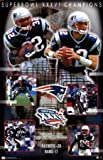 EXCLUSIVE New England Patriots Super Bowl 36 XXXVI Composite Championship 34.5 x 22.5 Art Print Poster COLLECTABLE Troy Brown, Ty Law, Tom Brady Superbowl at Amazon.com