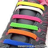 Homeout 1 Set(16pcs) No Tie Silicon Shoelaces - Colorful (Rainbow, 16pcs/Adults)