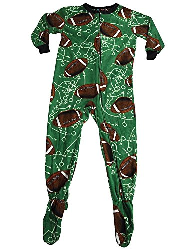 Fun Footies - Little Boys' Football Plays Blanket Sleeper, Green 36747-Large