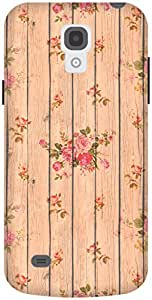 The Racoon Grip Beige Flower Wood hard plastic printed back case / cover for Samsung Galaxy S4 Mini