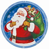 8x Santa Night Before Christmas Party Paper Plates/ Christmas Dinner