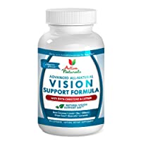 #1 Vision Support Supplement - Advanced Vision Support Formula - Formulated with All Natural Beta-Carotene 25000 IU, Lutein and other Eye Vitamins and Mineral Ingredients to Maintain Healthy Vision Naturally - 45 Days Supply