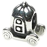Cinderella's Pumpkin Carriage Charm .925 Sterling Silver Bead Charm Pandora Chamilia Biagi & European Bracelets Compatible