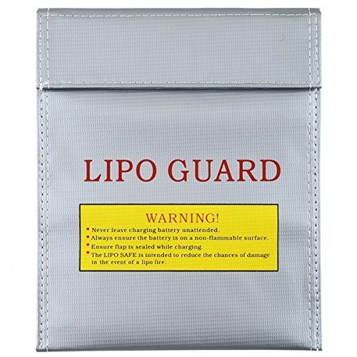 BW® Large Size LiPo Battery Safety Guard Bag Safe Case Sleeve for Charge & Storage (Large size)