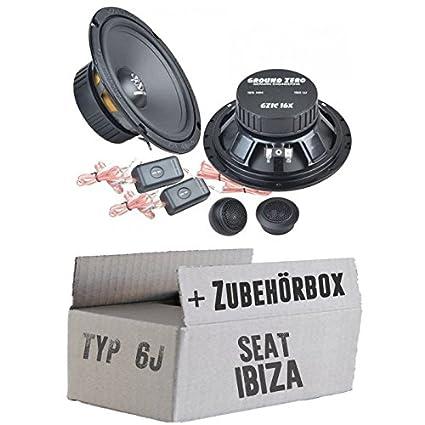 SEAT IBIZA 6J-Ground Zero GZIC 16x-16cm-Système de haut-parleur Kit de montage