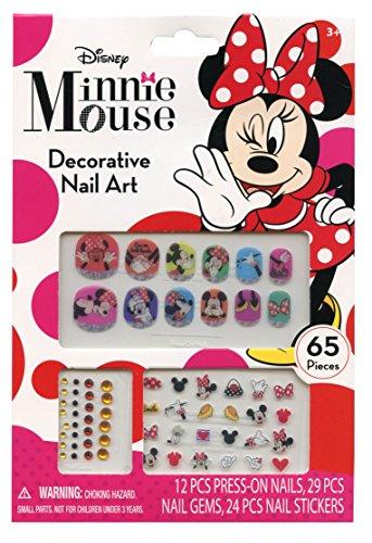 Disney Minnie Mouse Bowtique 65 Piece Decorative Nail Art Kit - 1
