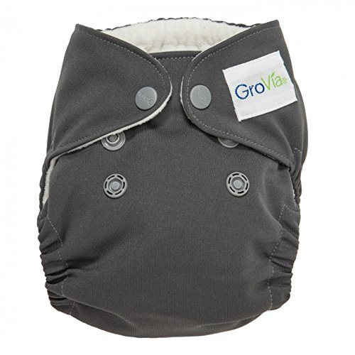 Grovia Organic Cotton Newborn All In One (AIO) Diaper - New Style - Cloud