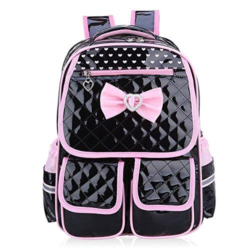 Abshoo Child School Bookbag Cute Kids School Backpacks for Girls (Black)