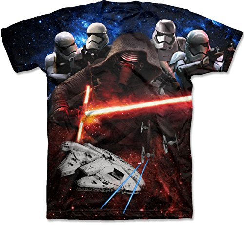 Star Wars Force Awakens Mens Dark Above T-Shirt