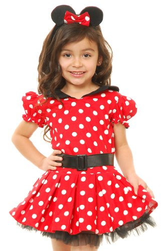 Charades Kids Toddler Girls Minnie Miss Mouse Halloween Costume