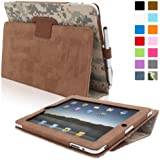 Snugg iPad 1 Case - Cover with Flip Stand and Lifetime Guarantee Digital Camo Leather for Apple iPad 1(B00DQ6SWTG)