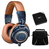 Audio-Technica ATH-M50X Blue Professional Headphones - LIMITED SPECIAL EDITION Ultimate Bundle
