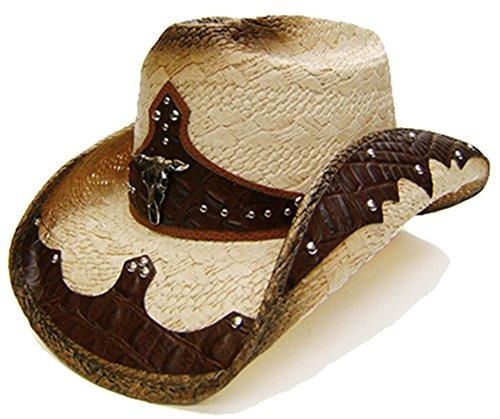 modestone-mens-straw-sombrero-vaquero-bull-head-s-brown-beige
