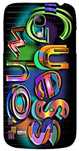 Prominent 3D multicolor printed protective REBEL mobile back cover for Samsung Galaxy S4-Mini - D.No-DEZ-1977-s4m