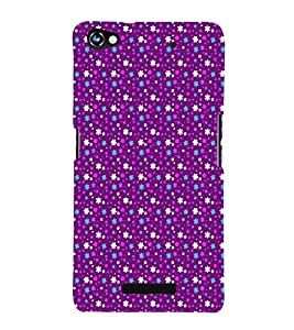 EPICCASE bling purple flowers Mobile Back Case Cover For Micromax Canvas Hue 2 A316 (Designer Case)