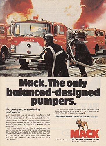 1978 MACK TRUCK Fire Truck Allentown PA vintage print ad