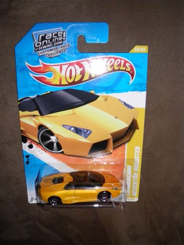 2011 HOT WHEELS NEW MODELS 23 240 YELLOW GOLD ORANGE LAMBORGHINI REVENTON
