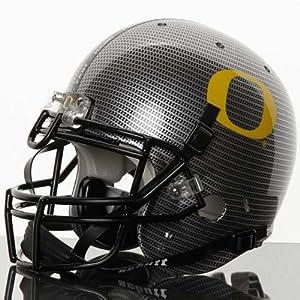 NCAA Schutt Oregon Ducks Silver Carbon Fiber Full-Size Authentic Helmet by Schutt